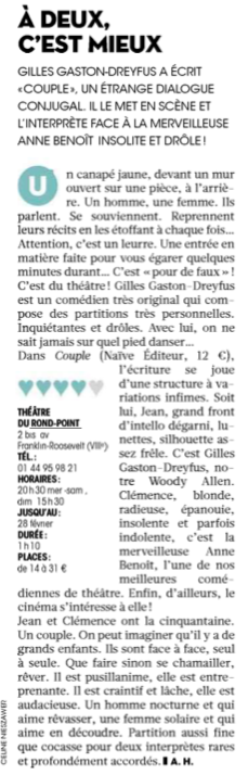 Couple presse Figaroscope février 2016