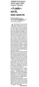 article mon ami louis libération mars 2013